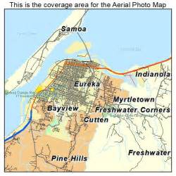 where is eureka california on a map aerial photography map of eureka ca california