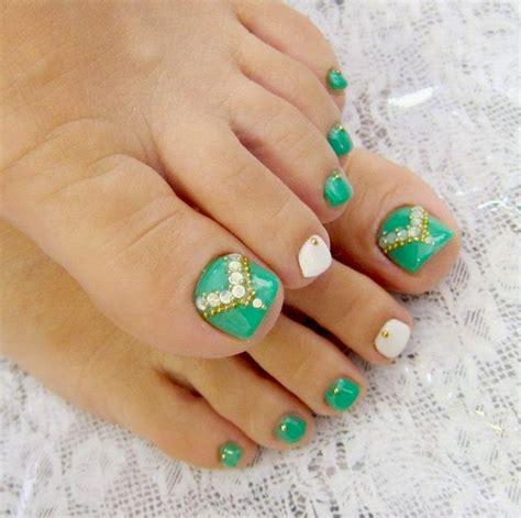 imagenes de uñas pintadas de un solo color 60 u 241 as decoradas para pies dise 241 os increibles im 225 genes