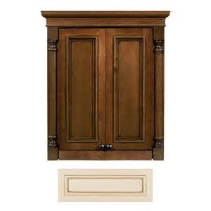 lowes bathroom wall cabinets architectural bath 27 3 4 in h x 24 in w x 7 in d vanilla chocolate wall cabinet lowe