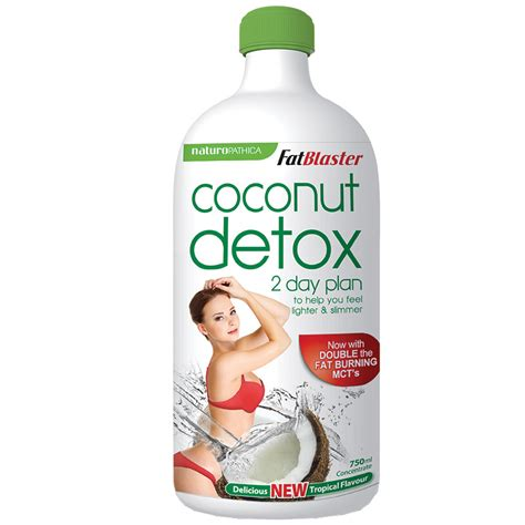 Blaster Coconut Detox Tablets by Naturopathica Fatblaster 2 Day Coconut Detox 750ml