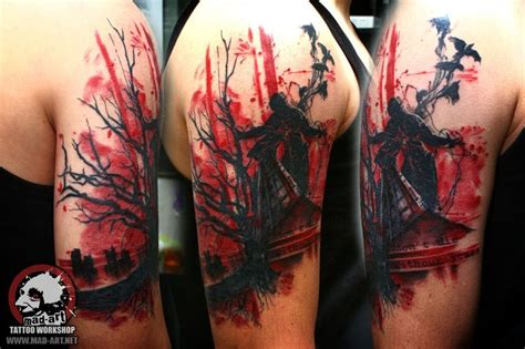 trash polka tattoo mad art tattoo gallery pinterest