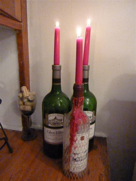 wine birthday candle wine bottle candle holder roselawnlutheran