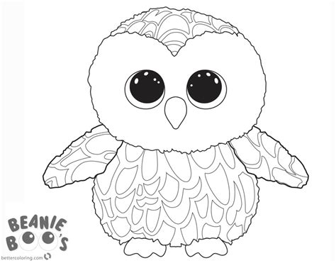 beanie boo coloring pages beanie boo owl coloring pages free printable coloring pages