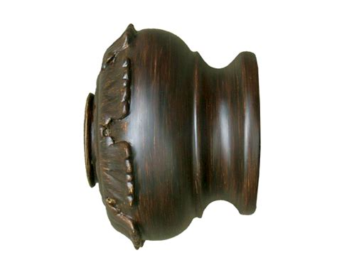 Drapery Hardware Parts house parts candler finial for 3 inch drapery rods at designer drapery hardware 12896