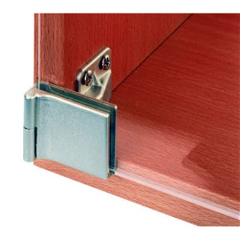 Overlay Glass Door Hinges Surface Mounted Hinge With Snap Closure For Half Overlay Glass Doors For Furniture Cabinet