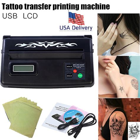 tattoo with printer aliexpress com buy usa wsj tattoo u2 lcd display usb