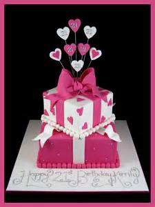 21st birthday cake idea girls pink and white inspired by michelle cake