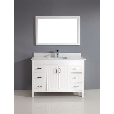 shop spa bathe cora 47 75 in white undermount single sink