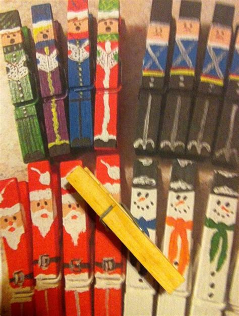 easy christmas clothespin crafts pinpoint
