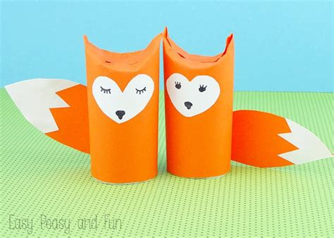 crafts with toilet paper rolls for preschoolers toilet paper roll fox craft easy peasy and