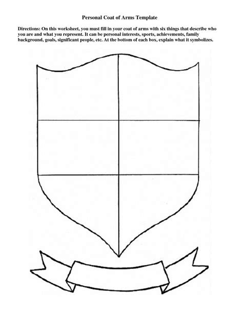 Personal Coat Of Arms Template Education Pinterest Coat Of Arms Art History Lessons And Arms Coat Of Arms Project Template