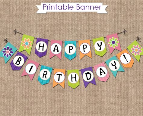 small printable birthday banner scooby doo birthday banner instant download