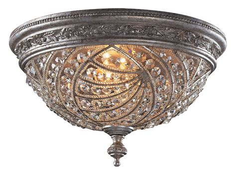 crystal flush mount light fixture crystal renaissance flush mount ceiling fixture elk