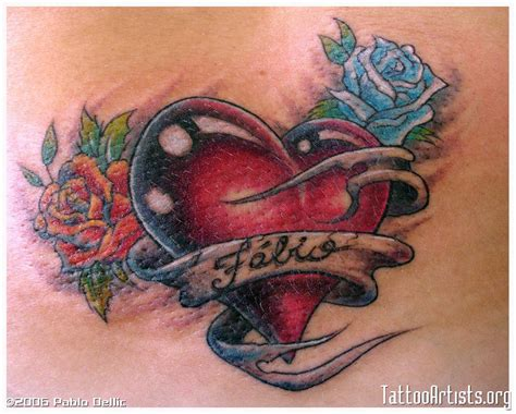 heart tattoos with names for men fantastic designs with names