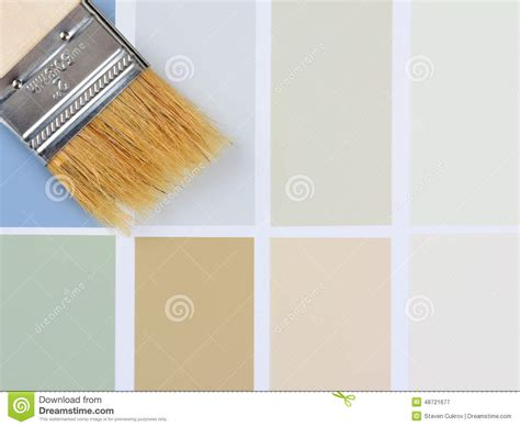 paint brush and color chart royalty free stock photography cartoondealer 8132603