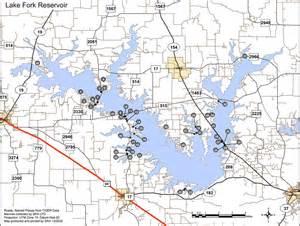 map of lake fork lake fork reservoir maplets