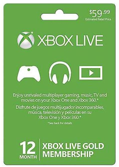 Can I Pay For Xbox Live With A Gift Card - xbox live 12 month subscription card just 39 99 reg 59 99