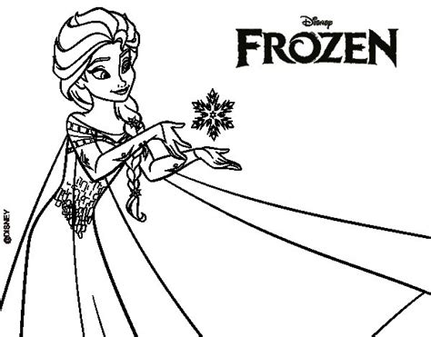 dibujos para colorear de frozen