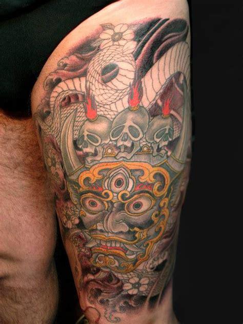 tattoo oriental espalda mahakala o senhor do tempo toshio shimada