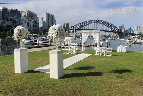 garden wedding ceremony and reception sydney lavender bay parklands sydney wedding venues