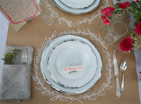 Craft Paper Table Runner - 17 best images about table settings non on