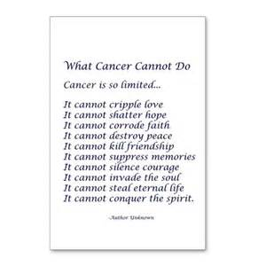 What Cancer Cannot Do Poem To Print » Home Design 2017