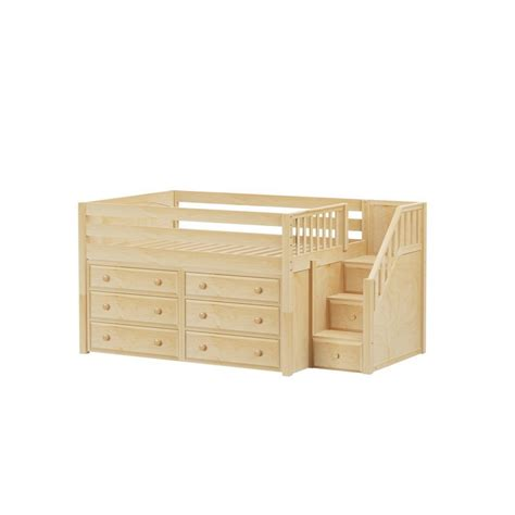 low loft bed with storage perfect3 full low loft with stairs storage maxtrix bed