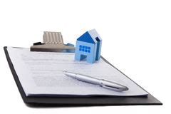 buying a house signing contract man signing a contract when buying a new house royalty free stock photo image 36696505