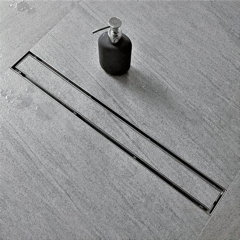 slim  modern shower drain systems   minimalist