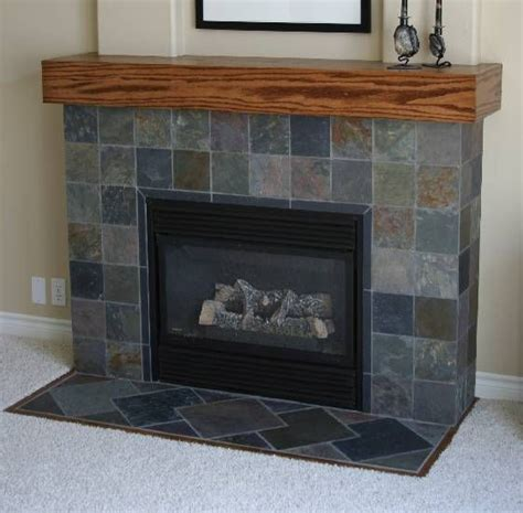 gary s slate fireplace project ceramic tile advice