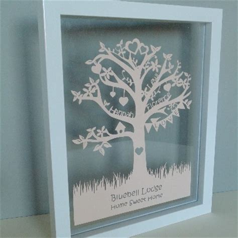 How To Make A Family Tree On Paper For - classic family tree papercut
