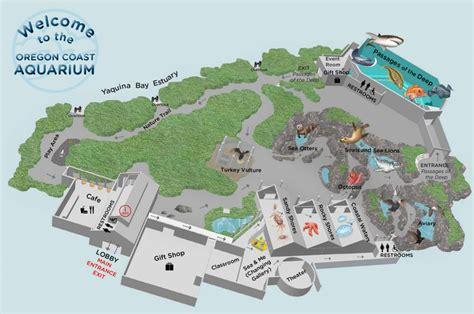 oregon coast aquarium map oregon coast aquarium map and pictures