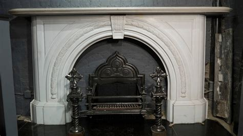 arched fireplace mantels antique statuary white carved arched marble