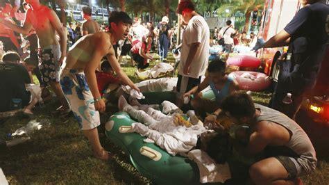 Theme Park Explosion | horrific aftermath of fiery blast at taiwan water park cnn