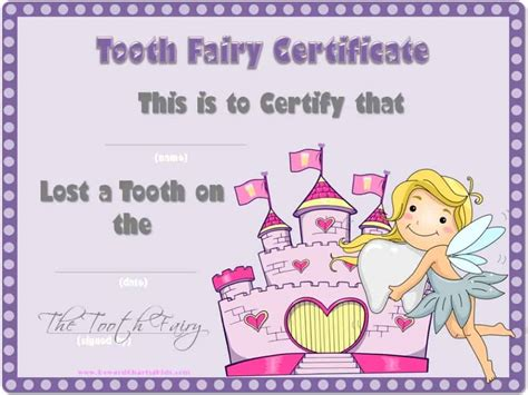 tooth card template tooth certificate
