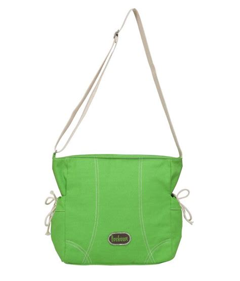 Monochrome Sling Bag buy anekaant monochrome green cotton sling bag at best