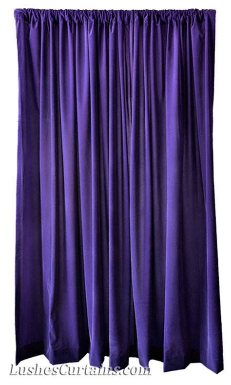 144 inch long curtain panels 144 inch h purple velvet curtain extra long studio theater