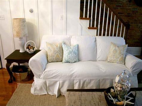 white slip covered sofa comfortable white slipcovered sofa that brings