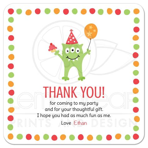 template for thank you card birthdays with three balloon and hat birthday