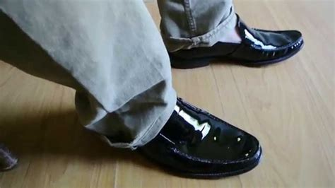 1 sockless loafer shiny patent leather shoes dress
