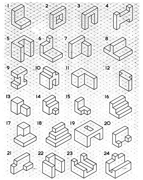 Drawing 3d Shapes Worksheet by Best 25 Isometric Drawing Ideas On What Is