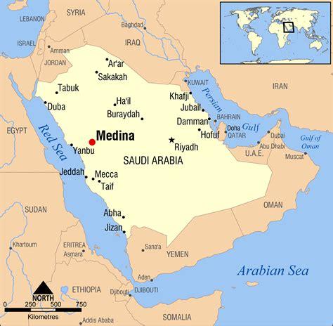 medina on world map medina saudi arabia map