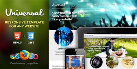 Universal Responsive Html5 Css3 Template By Enstyled Themeforest Universal Website Template