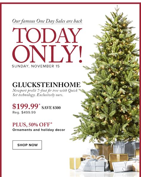 hudson bay christmas tree ads hudson s bay company today only save 300 on glucksteinhome pre lit tree 50