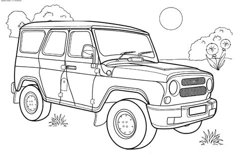 coloring page of a jeep free jeep coloring pages to print