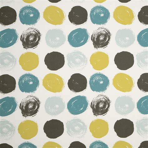 grey pattern curtain fabric teal yellow grey geometric cotton upholstery fabric