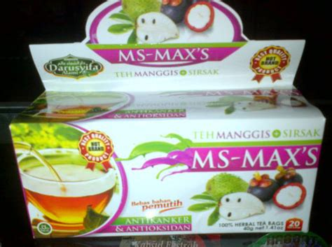 Teh Celup Manggis Daun Sirsak Sehat Bermanfaat jual teh ms maxs kulit manggis dan sirsak di denpasar bali