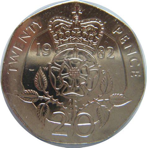 uni tn lettere 20 pence elizabeth ii 2e effigie royaume uni numista