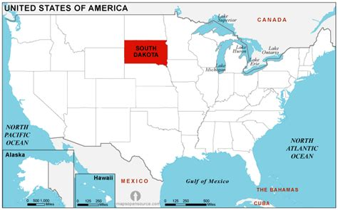 Usa Map South Dakota by South Dakota Location Map Location Map Of South Dakota