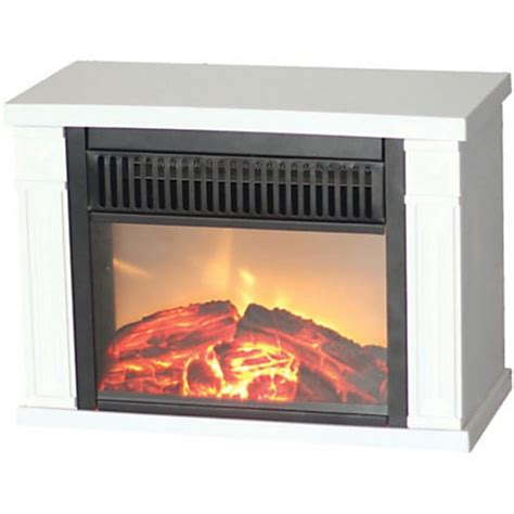 comfort glow the mini hearth electric fireplace white by